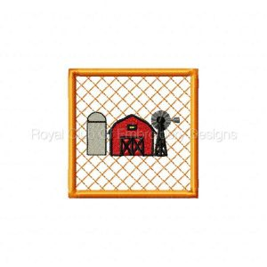 Royal Club Of Embroidery Designs - Machine Embroidery Patterns DD Farm Potholders and Coasters Set