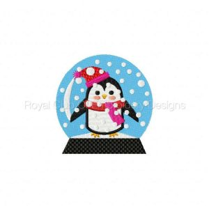 Royal Club Of Embroidery Designs - Machine Embroidery Patterns Festive Snow Globes Set