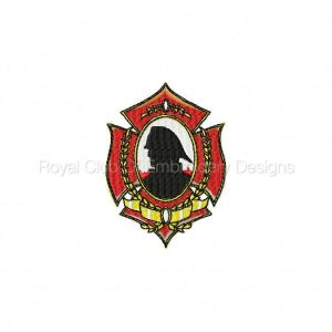 Royal Club Of Embroidery Designs - Machine Embroidery Patterns Fire Fighter Badges Set