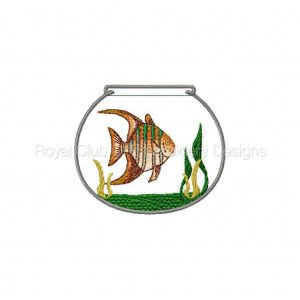 Royal Club Of Embroidery Designs - Machine Embroidery Patterns Vinyl Covered Fish Bowls Set