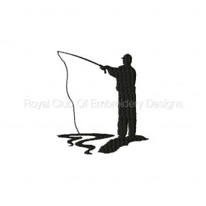 Royal Club Of Embroidery Designs - Machine Embroidery Patterns Fisherman Silhouettes Set