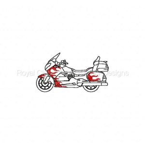 Royal Club Of Embroidery Designs - Machine Embroidery Patterns Flame Super Bikes Set