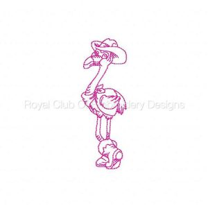 Royal Club Of Embroidery Designs - Machine Embroidery Patterns Flamingo Cowboys Redwork Set