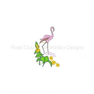 Royal Club Of Embroidery Designs - Machine Embroidery Patterns Flamingos Set