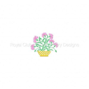 Royal Club Of Embroidery Designs - Machine Embroidery Patterns Floral Baskets Set