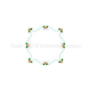 Royal Club Of Embroidery Designs - Machine Embroidery Patterns Floral Quilt Blocks 2 Set