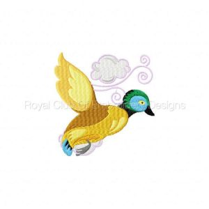 Royal Club Of Embroidery Designs - Machine Embroidery Patterns Flying Jacobean Ducks Set