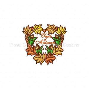 Royal Club Of Embroidery Designs - Machine Embroidery Patterns For The Love of Fall Set