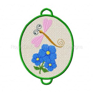 Royal Club Of Embroidery Designs - Machine Embroidery Patterns Frog Pond Wind Catchers Set