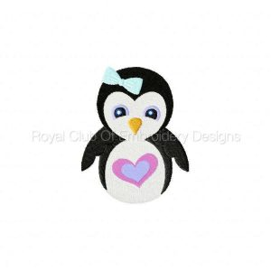 Royal Club Of Embroidery Designs - Machine Embroidery Patterns Frosty Penguins Set