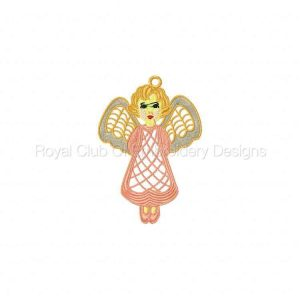 Royal Club Of Embroidery Designs - Machine Embroidery Patterns FSL Angels Set