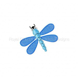 Royal Club Of Embroidery Designs - Machine Embroidery Patterns FSL Dragonflies Set