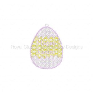 Royal Club Of Embroidery Designs - Machine Embroidery Patterns FSL Easter Eggs 2 Set
