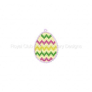 Royal Club Of Embroidery Designs - Machine Embroidery Patterns Free Standing Lace Eggs Set
