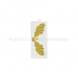 Royal Club Of Embroidery Designs - Machine Embroidery Patterns FSL Fall Bookmarks Set