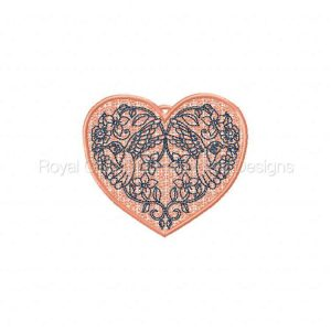 Royal Club Of Embroidery Designs - Machine Embroidery Patterns FSL Hummingbird Hearts Set
