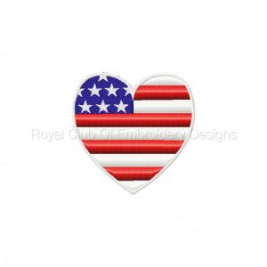 Royal Club Of Embroidery Designs - Machine Embroidery Patterns FSL Patriotic Set