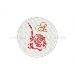 Royal Club Of Embroidery Designs - Machine Embroidery Patterns DD FSL Tiger Coasters Set