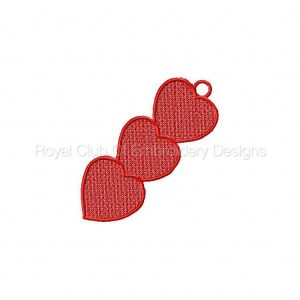 Royal Club Of Embroidery Designs - Machine Embroidery Patterns FSL Valentine Bookmarkers Set