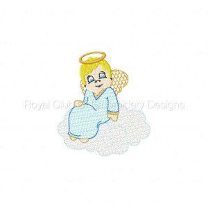 Royal Club Of Embroidery Designs - Machine Embroidery Patterns Funny Angels Lace Set