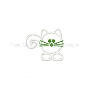 Royal Club Of Embroidery Designs - Machine Embroidery Patterns Applique Funny Kitties Set