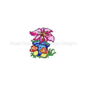Royal Club Of Embroidery Designs - Machine Embroidery Patterns Garden Time X Stitch Set