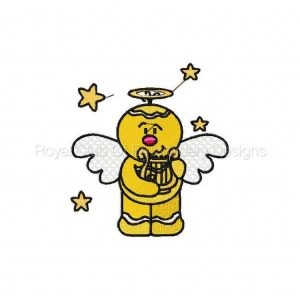 Royal Club Of Embroidery Designs - Machine Embroidery Patterns DD Gingerbread Angels Set