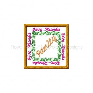 Royal Club Of Embroidery Designs - Machine Embroidery Patterns Give Thanks Coasters Set