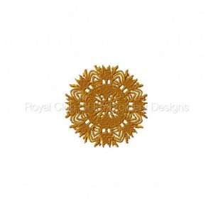 Royal Club Of Embroidery Designs - Machine Embroidery Patterns DD Golden Medallions Set