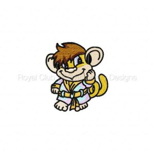 Royal Club Of Embroidery Designs - Machine Embroidery Patterns DD Good Morning Monkeys Set