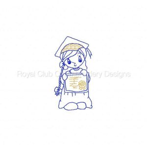 Royal Club Of Embroidery Designs - Machine Embroidery Patterns Grad Girls Set