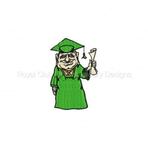 Royal Club Of Embroidery Designs - Machine Embroidery Patterns DD Grads Set