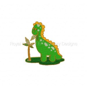 Royal Club Of Embroidery Designs - Machine Embroidery Patterns Green Dino Set