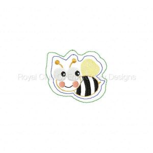 Royal Club Of Embroidery Designs - Machine Embroidery Patterns Girly Hair Clips Set