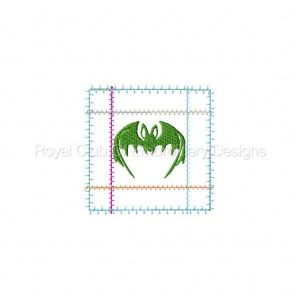 Royal Club Of Embroidery Designs - Machine Embroidery Patterns Halloween Blocks and Coasters Set