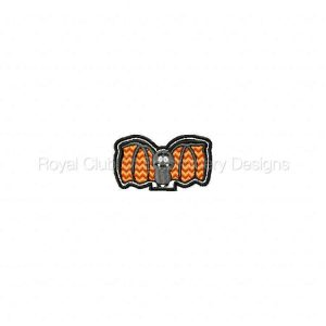 Royal Club Of Embroidery Designs - Machine Embroidery Patterns Halloween Pencil and Straw Toppers Set