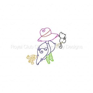 Royal Club Of Embroidery Designs - Machine Embroidery Patterns Halloween Sunbonnets Set