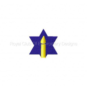 Royal Club Of Embroidery Designs - Machine Embroidery Patterns Hanukkah Calendar Set