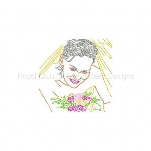 Royal Club Of Embroidery Designs - Machine Embroidery Patterns Here Come The Brides Set