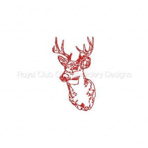 Royal Club Of Embroidery Designs - Machine Embroidery Patterns Hunter Redwork Set