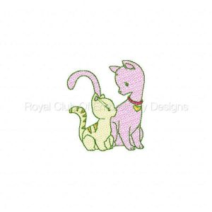 Royal Club Of Embroidery Designs - Machine Embroidery Patterns I Love My Mom Kittens Set