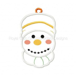 Royal Club Of Embroidery Designs - Machine Embroidery Patterns In The Hoop Applique Snowmen Gift Card Holders Set