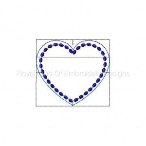 Royal Club Of Embroidery Designs - Machine Embroidery Patterns In The Hoop Zippered Heart Bags Set