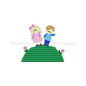 Royal Club Of Embroidery Designs - Machine Embroidery Patterns Jack and Jill Set