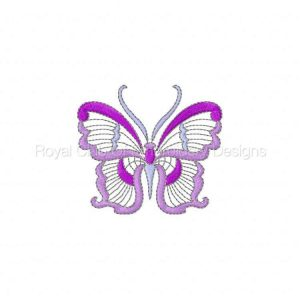 Royal Club Of Embroidery Designs - Machine Embroidery Patterns Jacobean Butterflies 2 Set