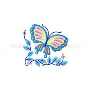 Royal Club Of Embroidery Designs - Machine Embroidery Patterns Jacobean Butterflies Set