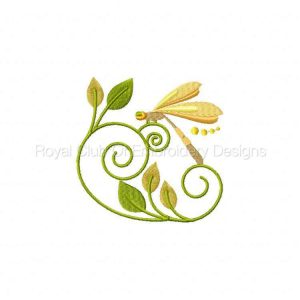 Royal Club Of Embroidery Designs - Machine Embroidery Patterns Jacobean Dragonflies Set