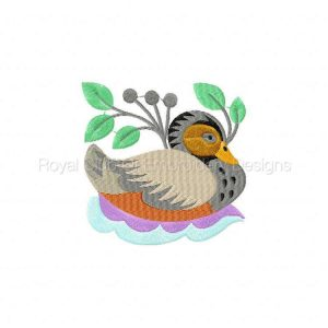 Royal Club Of Embroidery Designs - Machine Embroidery Patterns Jacobean Ducks Set
