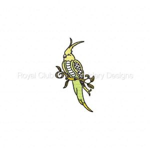 Royal Club Of Embroidery Designs - Machine Embroidery Patterns Jacobean Tropical Birds Set