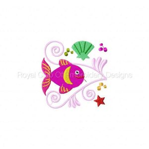 Royal Club Of Embroidery Designs - Machine Embroidery Patterns Jacobean Sea Friends Set